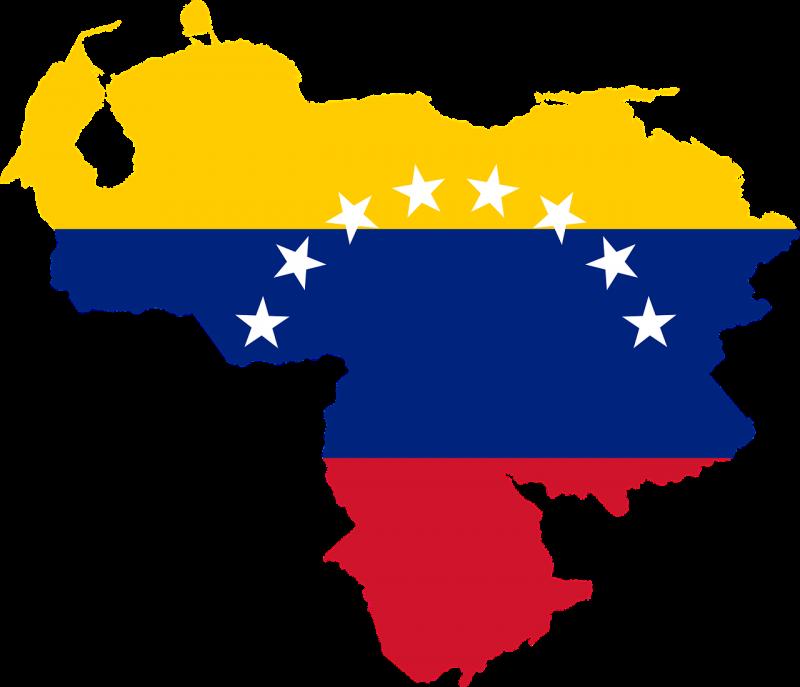 Venezuela Territory with flag